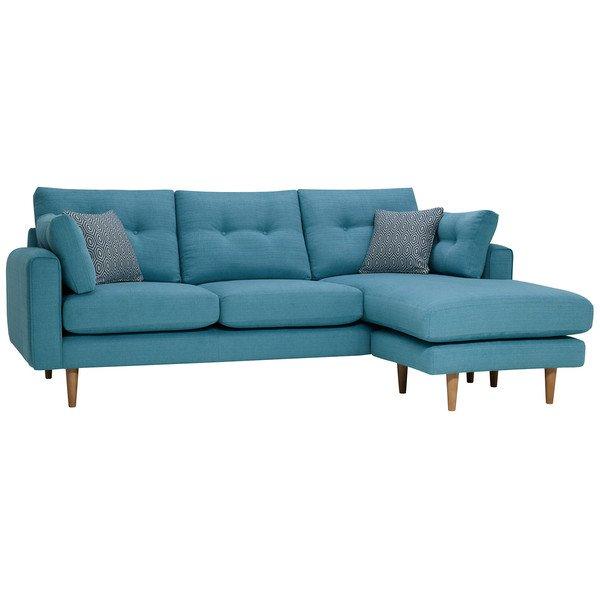 Sea Spray Fabric Sofas Right Hand Chaise Sofa Brighton Range Oak Furnitureland