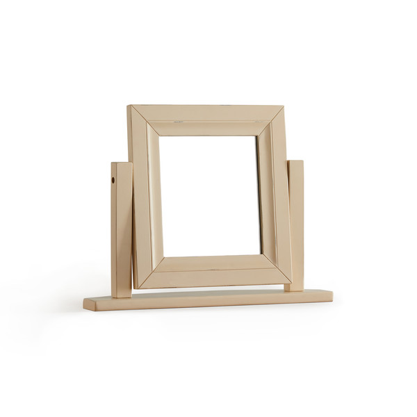 Burford Rustic Solid Oak And Distressed Paint Finish Dressing Mirror thumbnail