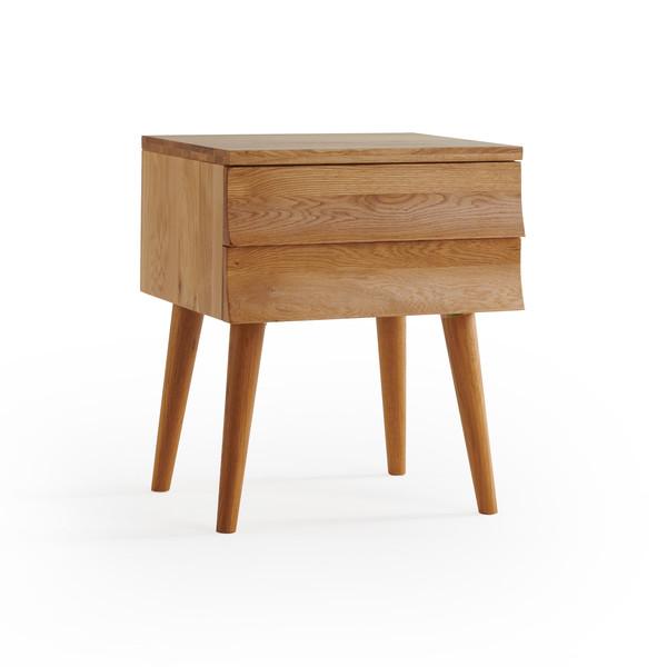 Cascade Natural Solid Oak Side Table thumbnail