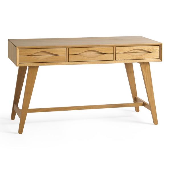 Ellipse Natural Solid Oak Laptop Desk thumbnail