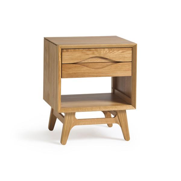 Ellipse Natural Solid Oak Side Table thumbnail