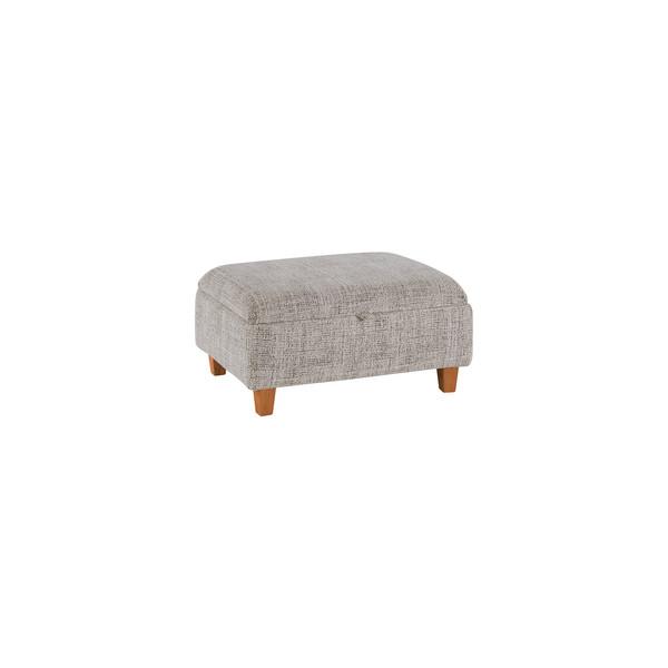 Cream Fabric Sofas Storage Footstool Inca Range Oak Furnitureland