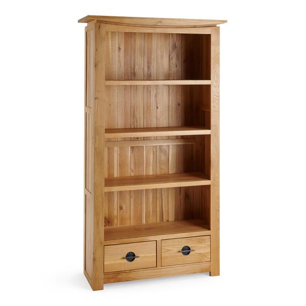 Kyoto Natural Solid Oak Tall Bookcase thumbnail
