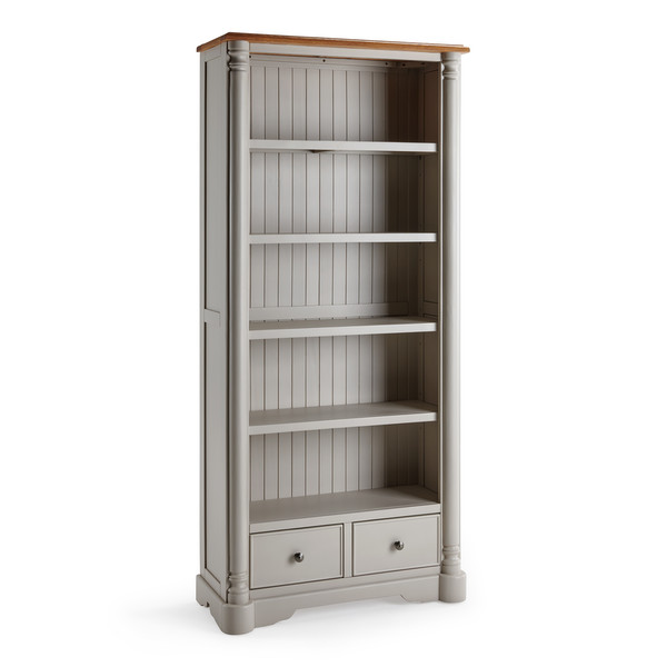 Roman Rustic Solid Oak Painted Tall Bookcase thumbnail