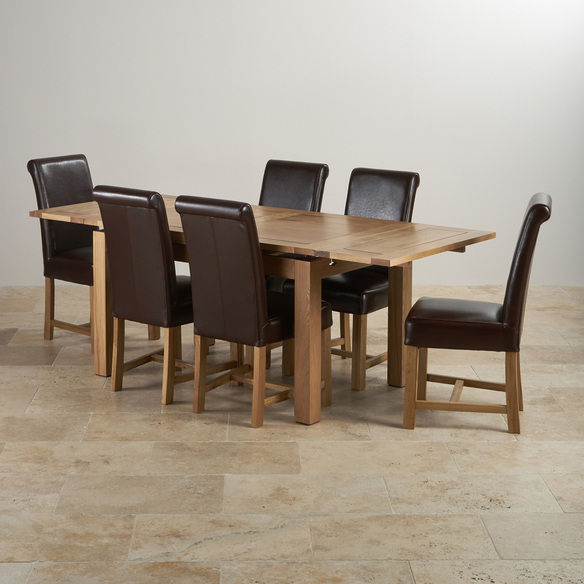 9c7988132d59 dorset-natural-solid-oak-dining-set--4ft-7-extending-table-with-6-braced- scroll-back-brown-leather-chairs-573349b4adef4.jpg