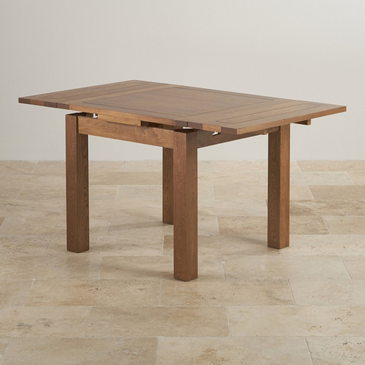 3ft x 3ft Rustic Oak Extending Dining Table Oak  : 3ft x 3ft rustic solid oak extending dining table seats up to 6 people extended 56fbb9eb9a8bf62dab409398f4aacb7264d83488ebfe6 from www.oakfurnitureland.co.uk size 1200 x 1200 jpeg 135kB