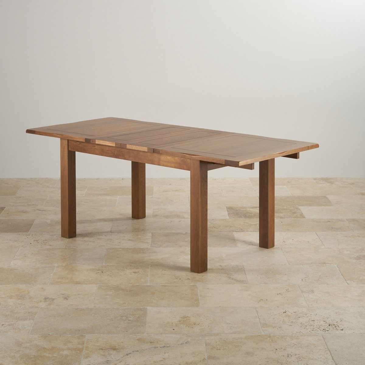 Rushmere extending dining table in rustic oak 6 leather for 144 dining table