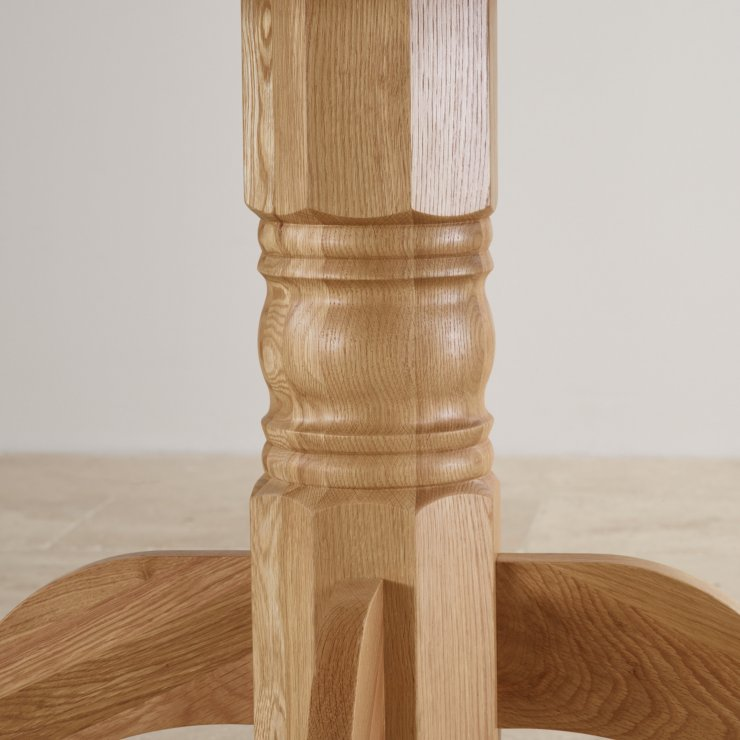 Natural Solid Oak 4ft Round Pedestal Table