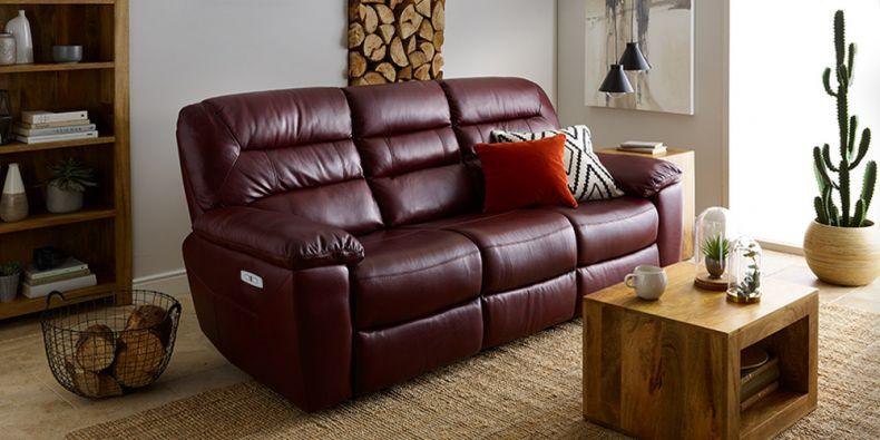 Sensational Leather Reclining Sofas Leather Recliners Oak Furnitureland Creativecarmelina Interior Chair Design Creativecarmelinacom