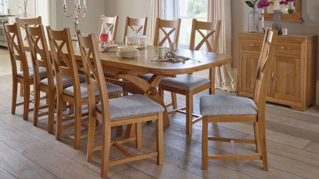 Oak Extendable Dining Table And Chairs Oak Furniture Land