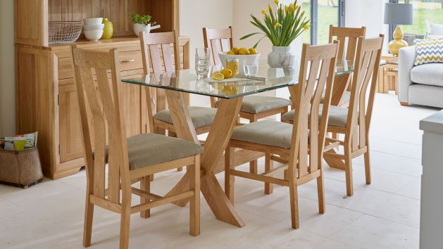 Glass Dining Table And Chairs Glass Dining Table Sets Oak