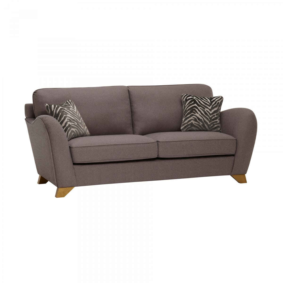 Abbey traditional 3 seat high back sofa oak furniture land for Traditional fabric high back sofas