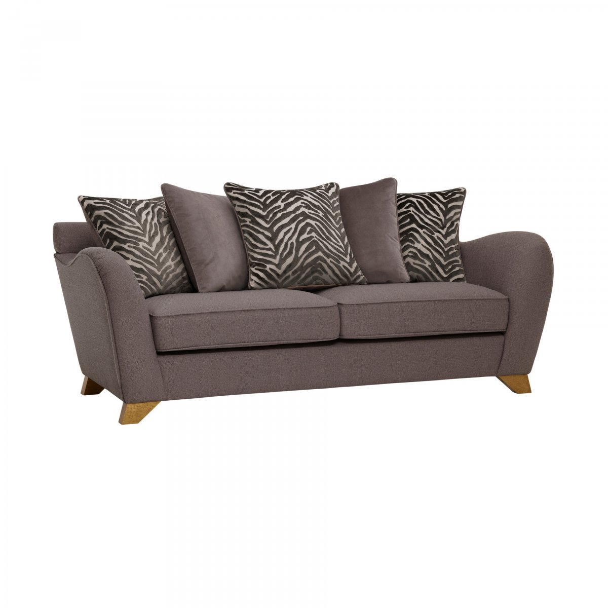 Pillows Traditional Sofa: Abbey Traditional Pillow Back 3 Seater Fabric Sofa