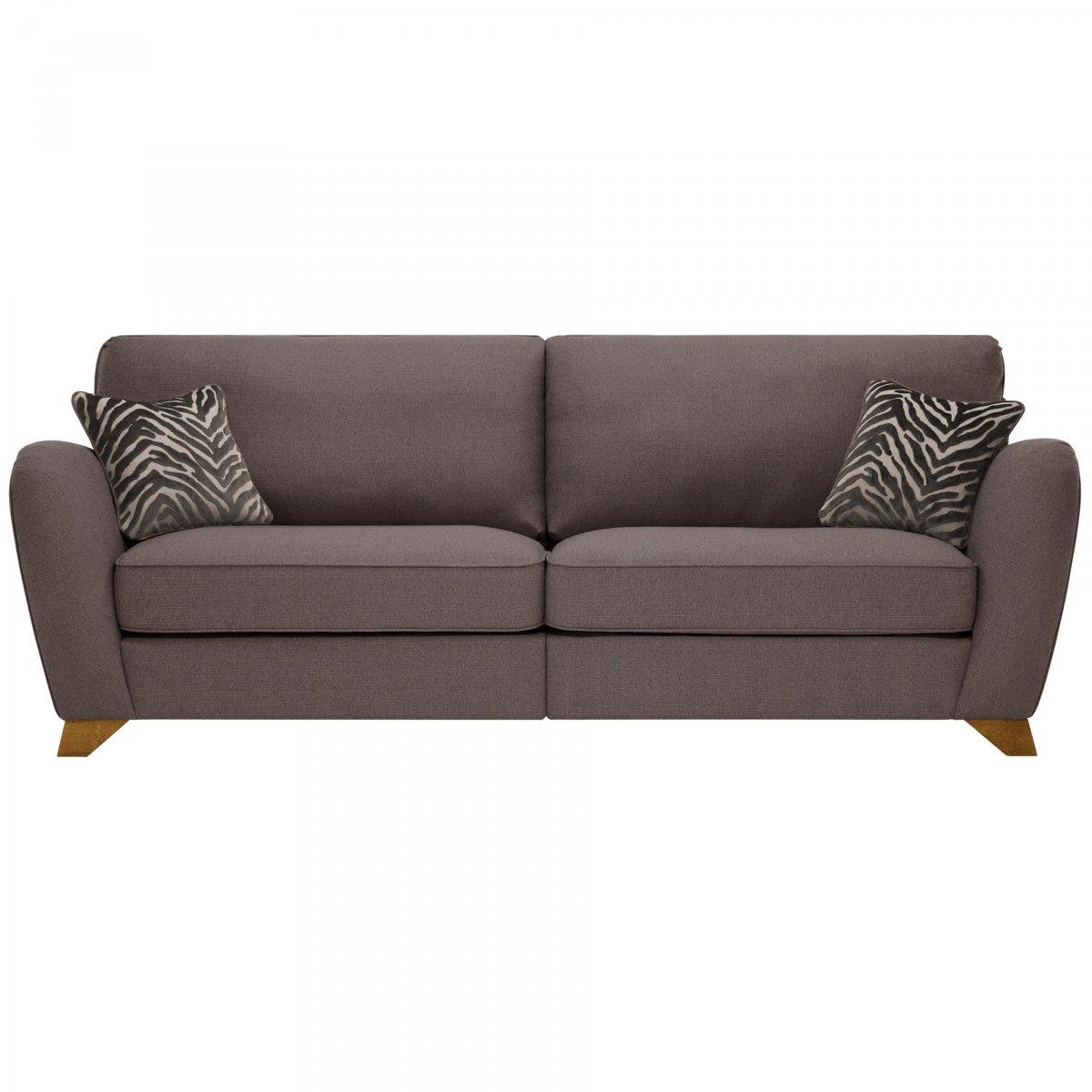Abbey traditional 4 seat high back sofa oak furniture land for Traditional fabric high back sofas