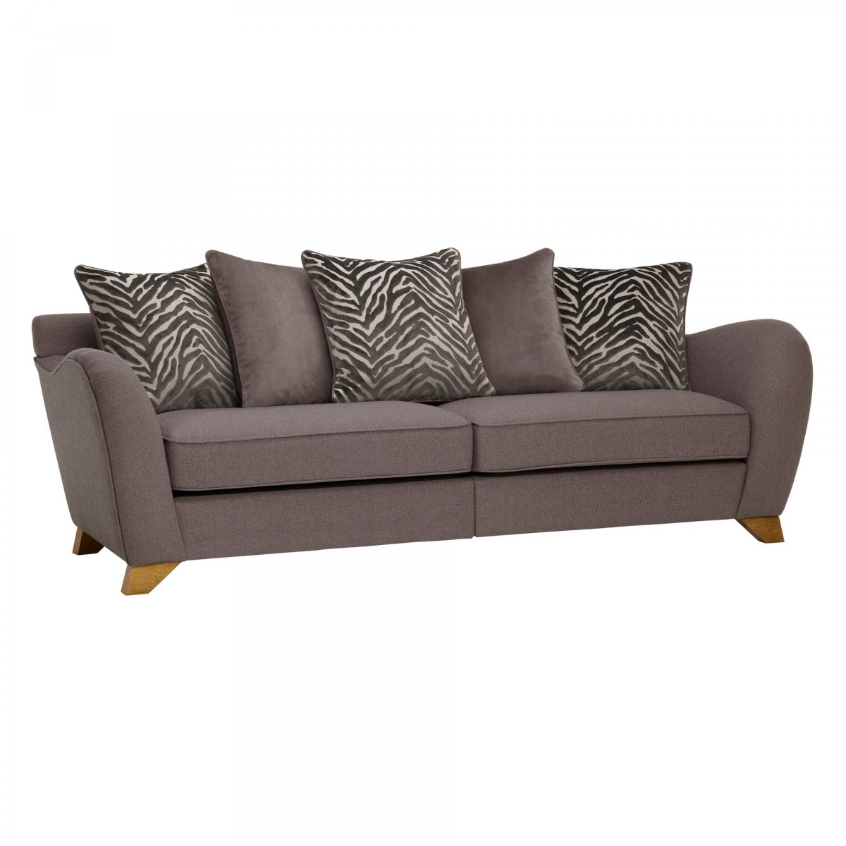 Abbey Traditional Large Sofa, Pillow Back Oak Furniture Land