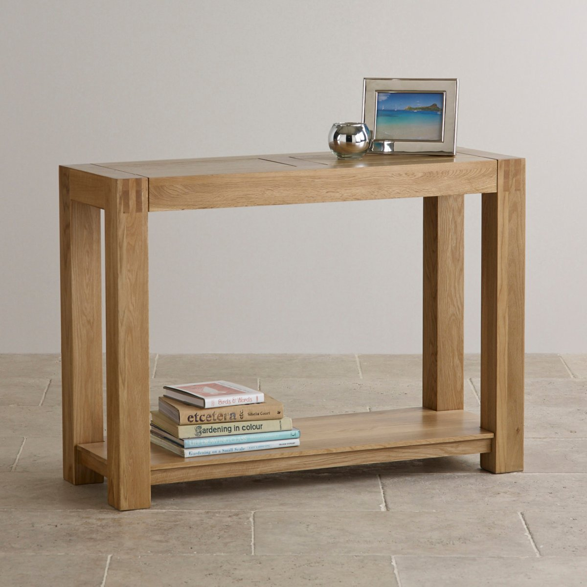 Alto Natural Solid Oak Console Table. Sorry, Your Browser Does Not Support  This Video.