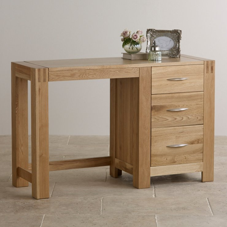 Alto dressing table in natural solid oak furniture land