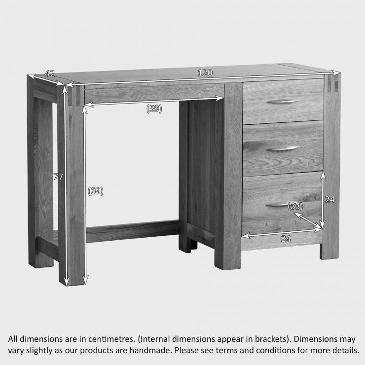 Alto Dressing Table In Natural Solid Oak Oak Furniture Land