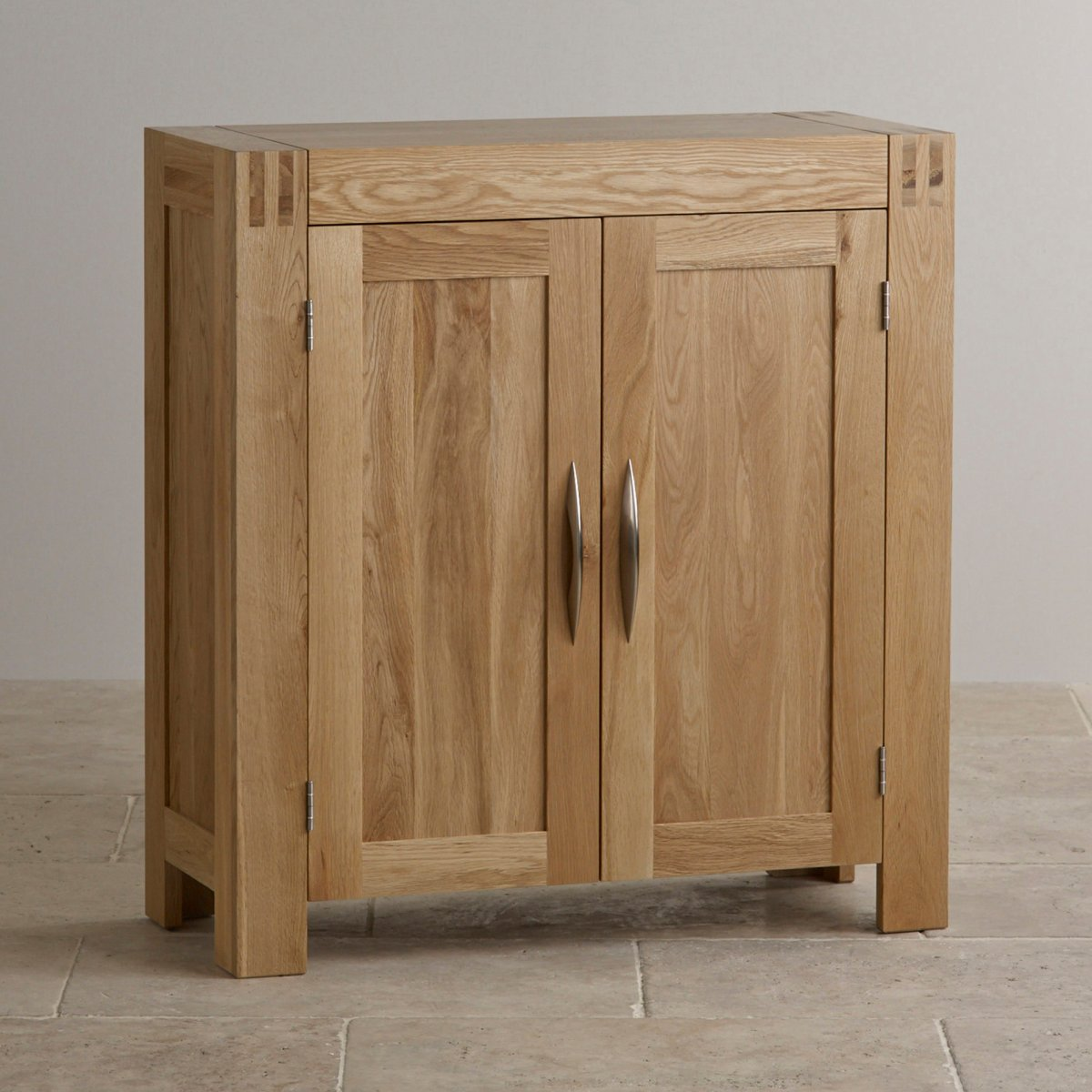 Alto Media Storage Unit In Natural Solid Oak Oak