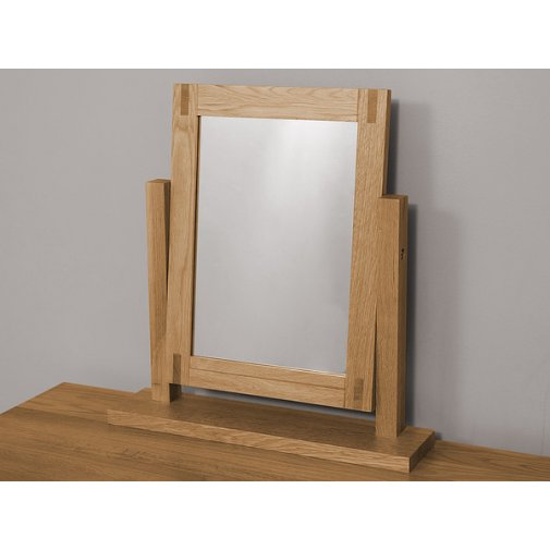 Alto Natural Solid Oak Dressing Table Mirror