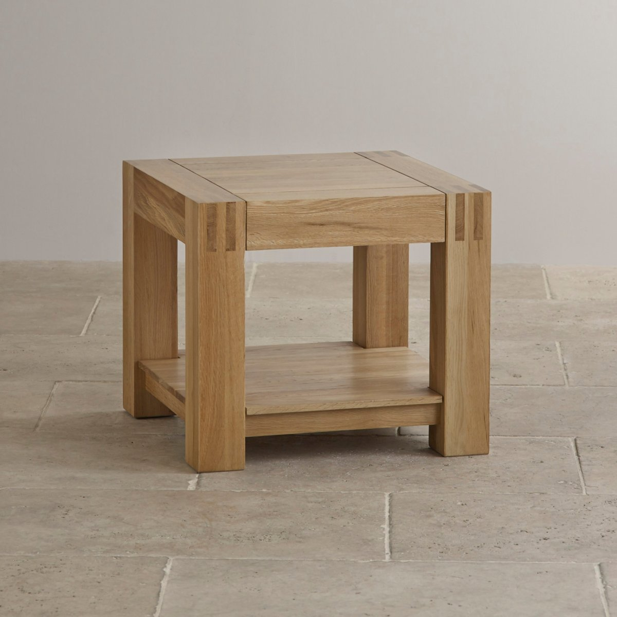 Alto side table in natural solid oak furniture land