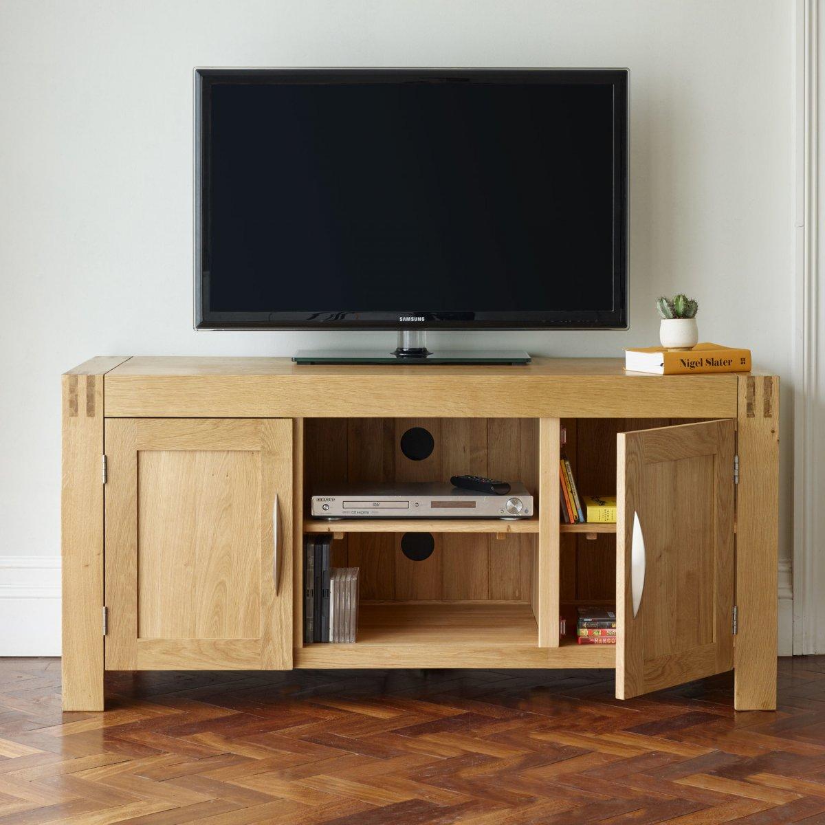 Alto Tv Cabinet In Solid Oak Oak Furniture Land