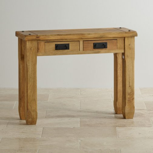 Baku Light Natural Solid Mango Console Table