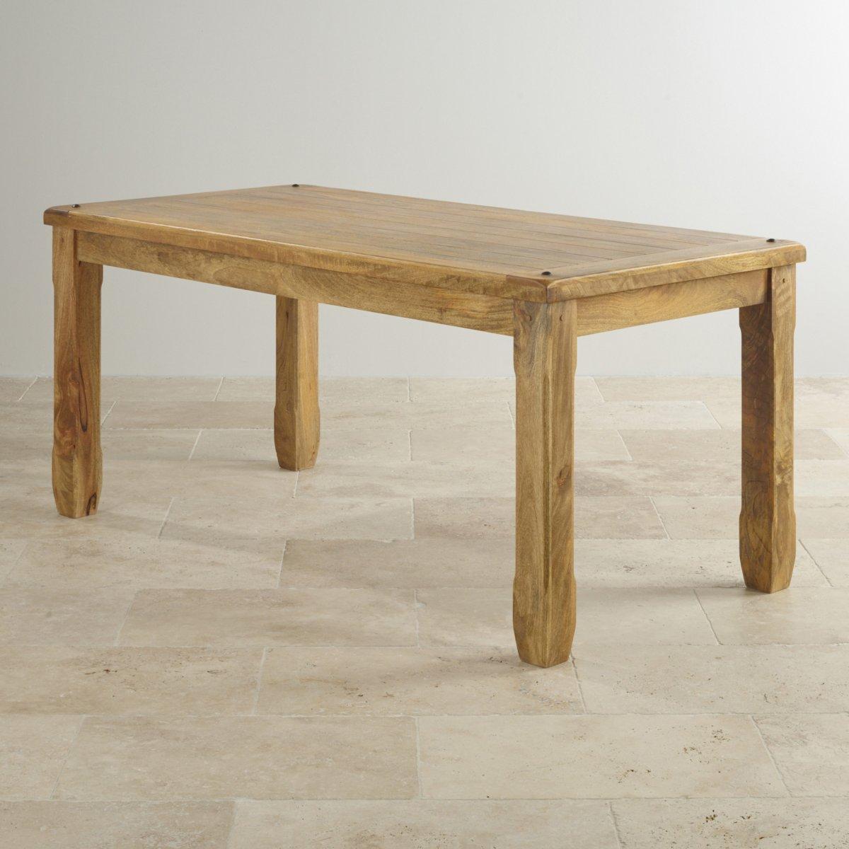 Baku Light Dining Table In Natural Mango Oak Furniture Land
