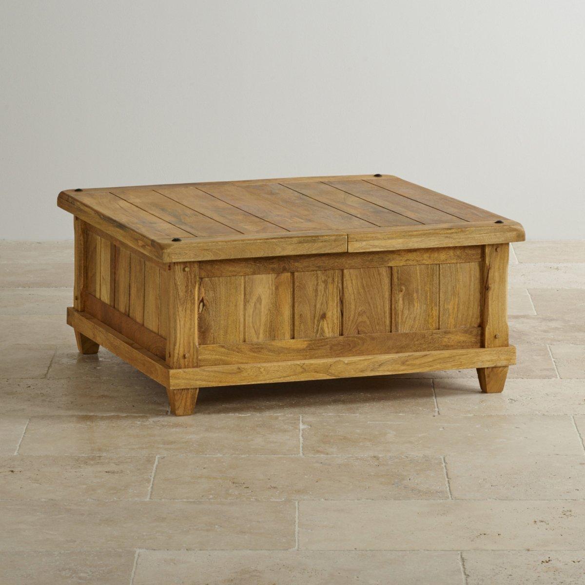 Baku light natural solid mango blanket box by oak for Furniture land