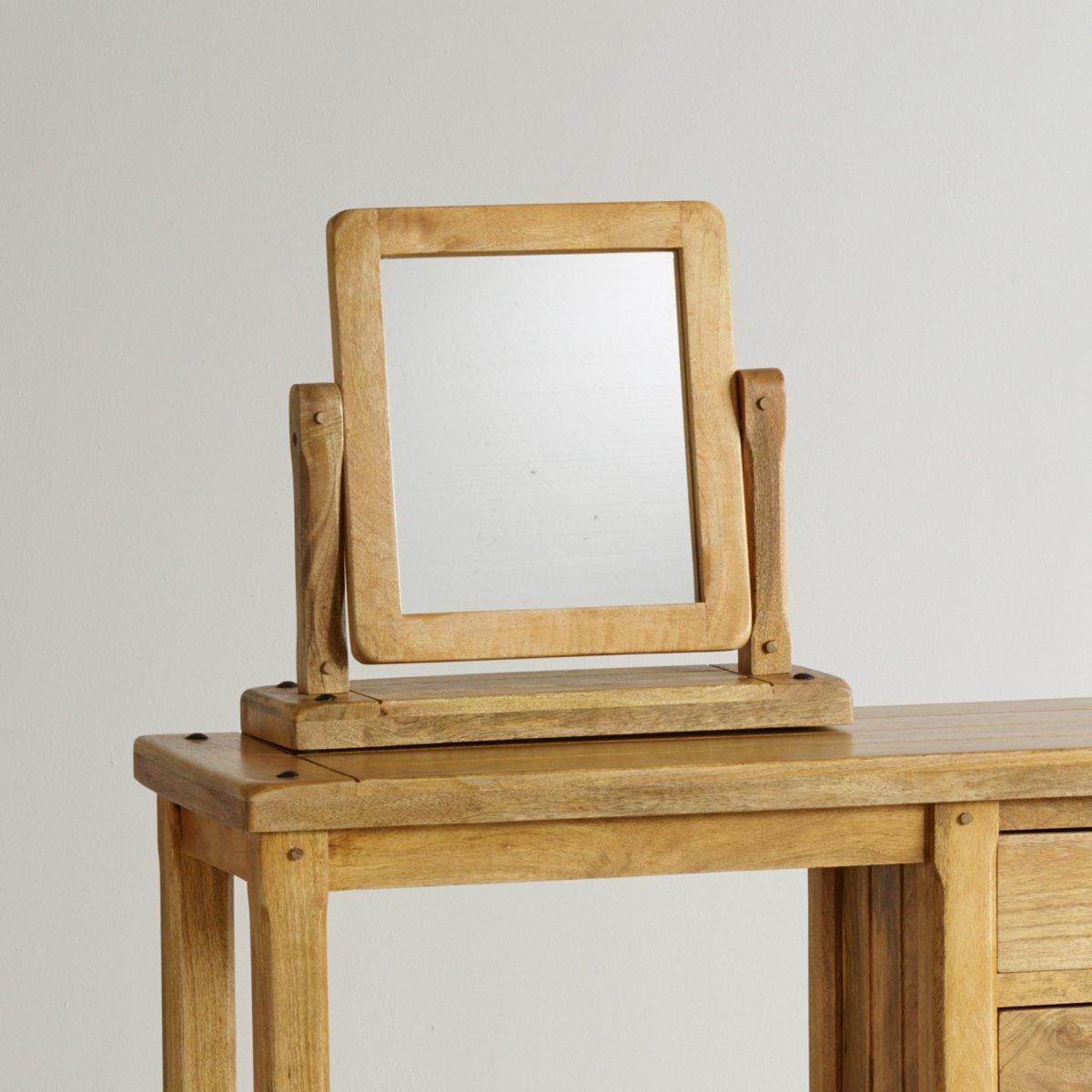 Baku Light Dressing Table Mirror In Natural Solid Mango