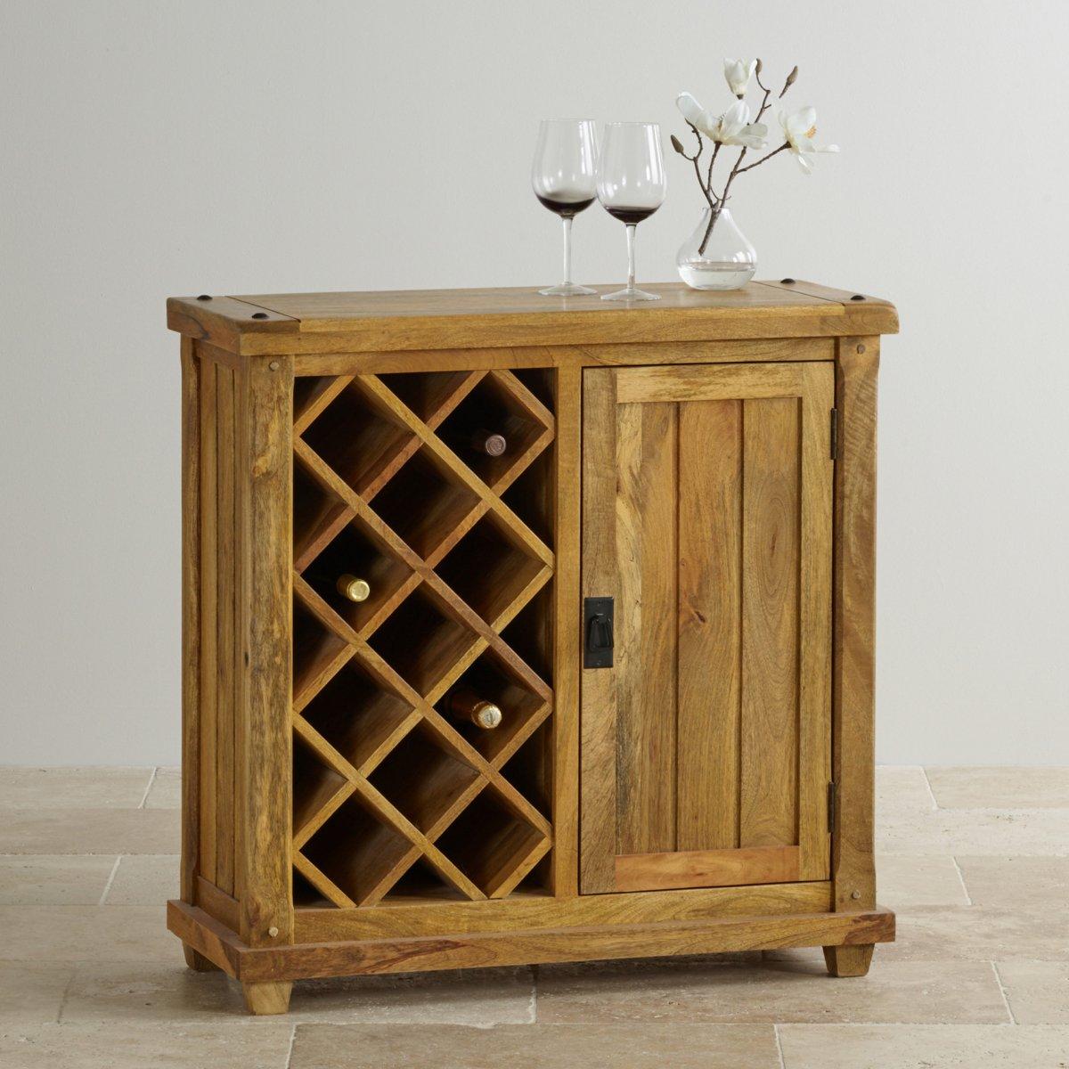 Baku Light Natural Solid Mango Wine Cabinet