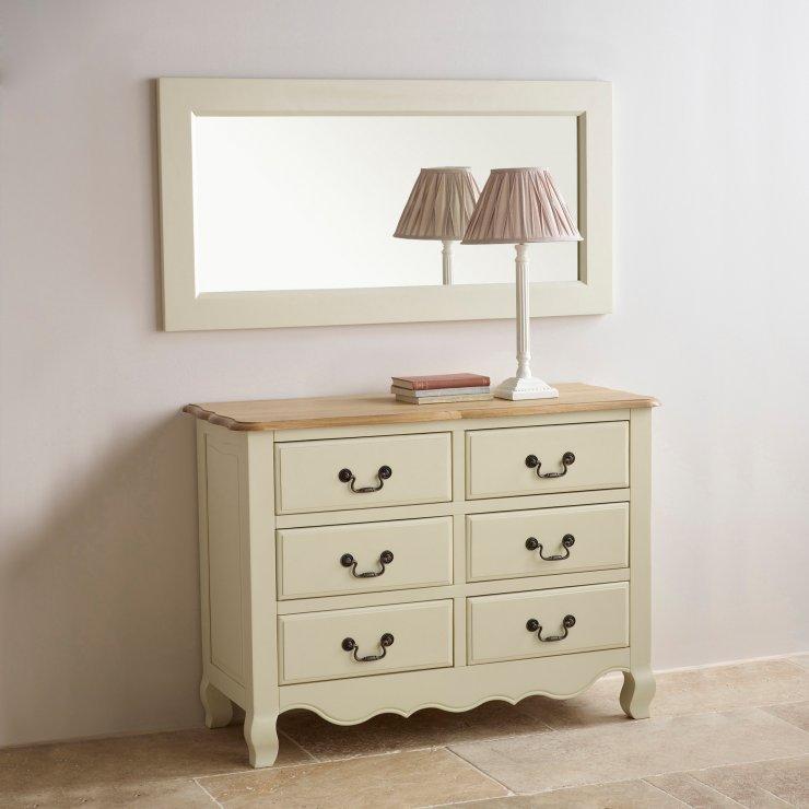 Bella Painted Wall Mirror In Brushed Oak Oak Furniture Land