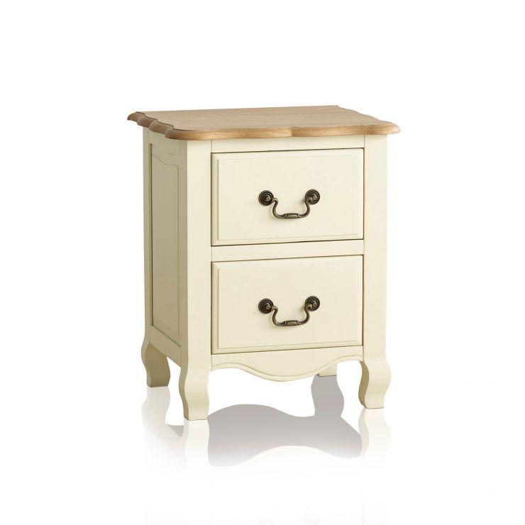 Bella Brushed Painted Oak 2 Drawer Bedside Cabinet