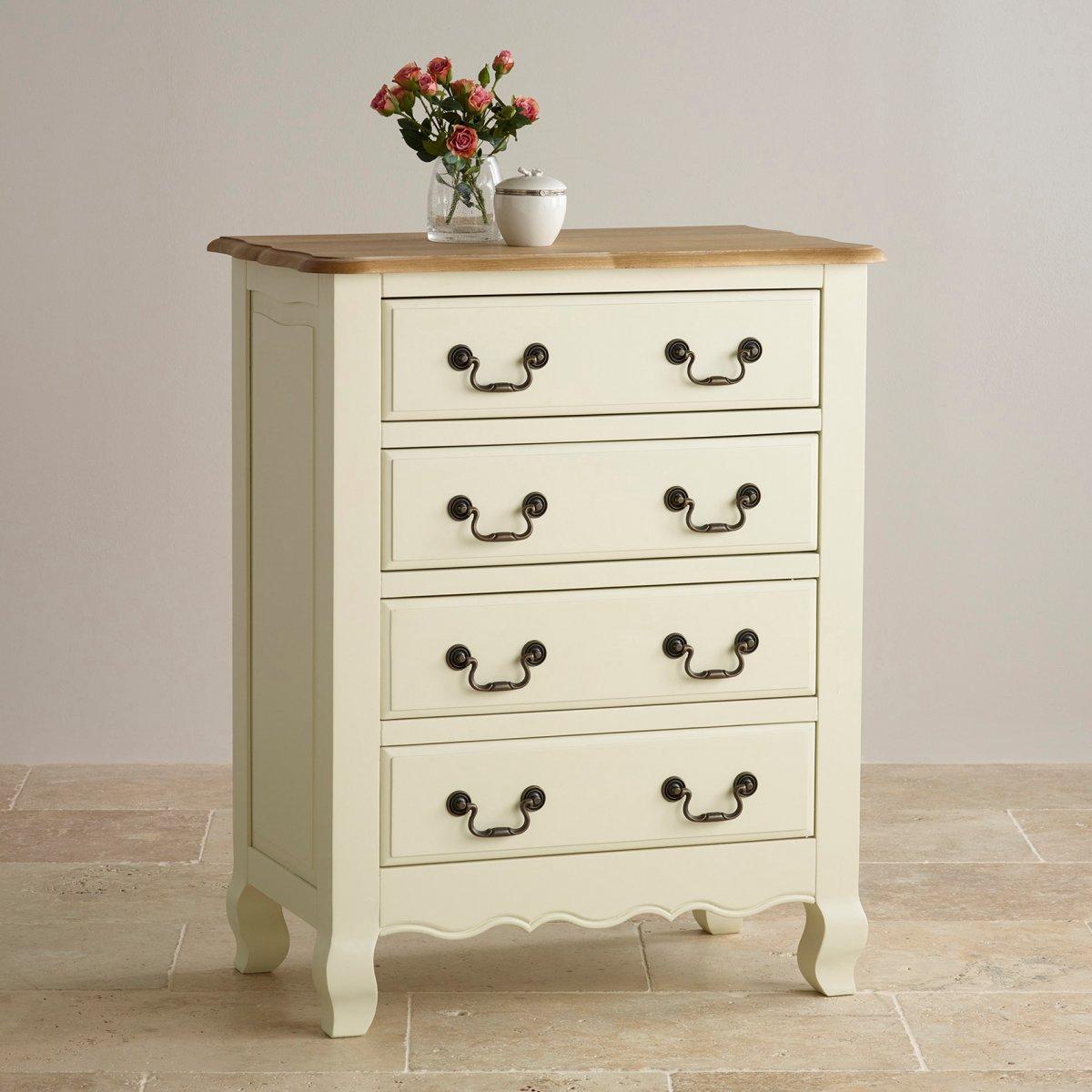 bella 4 drawer painted chest in brushed oak oak. Black Bedroom Furniture Sets. Home Design Ideas