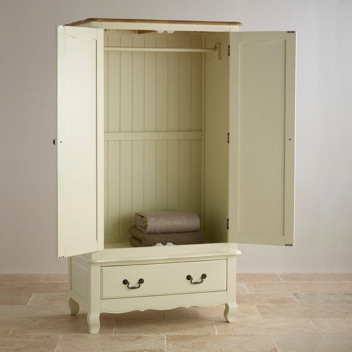 Bella Painted Double Wardrobe in Solid Oak | Oak Furniture ...