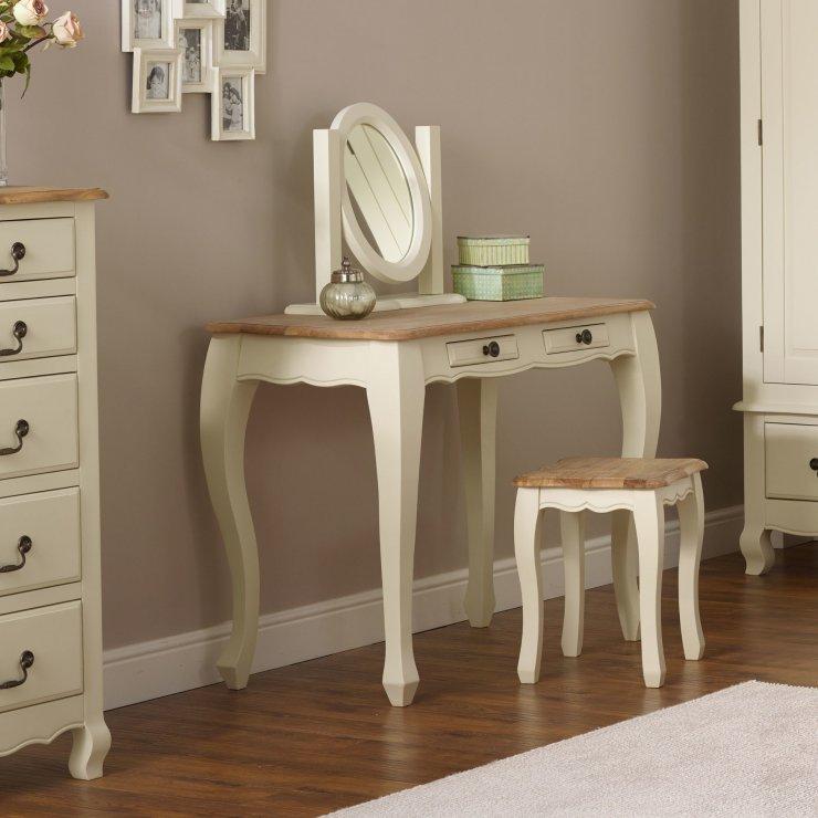 Bella Painted Dressing Table In Brushed Oak Oak