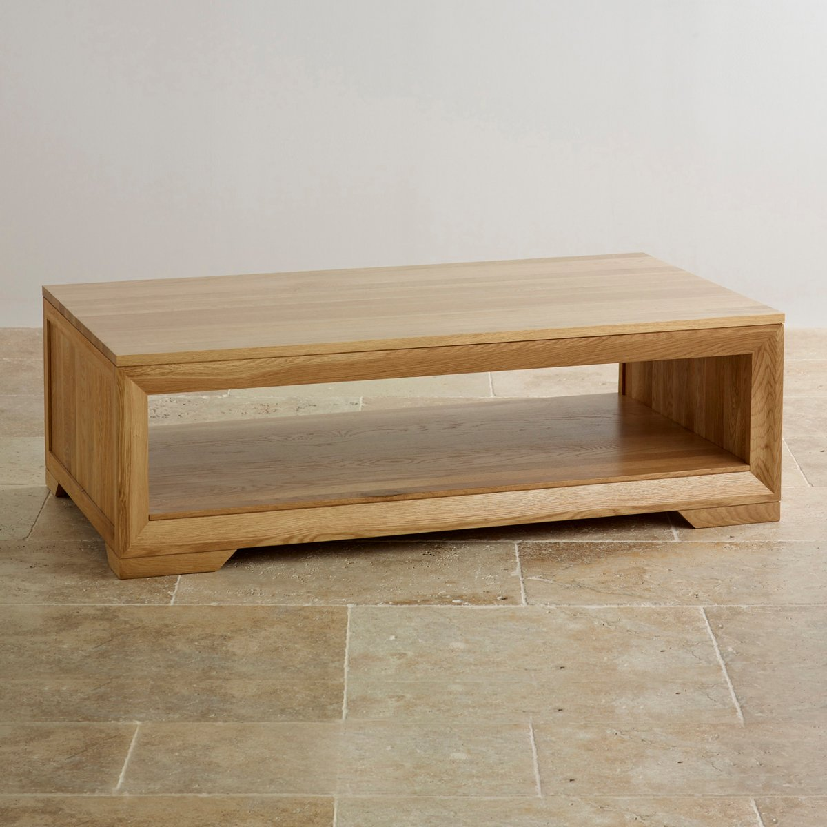 Bevel coffee table in solid oak oak furniture land bevel natural solid oak coffee table geotapseo Image collections