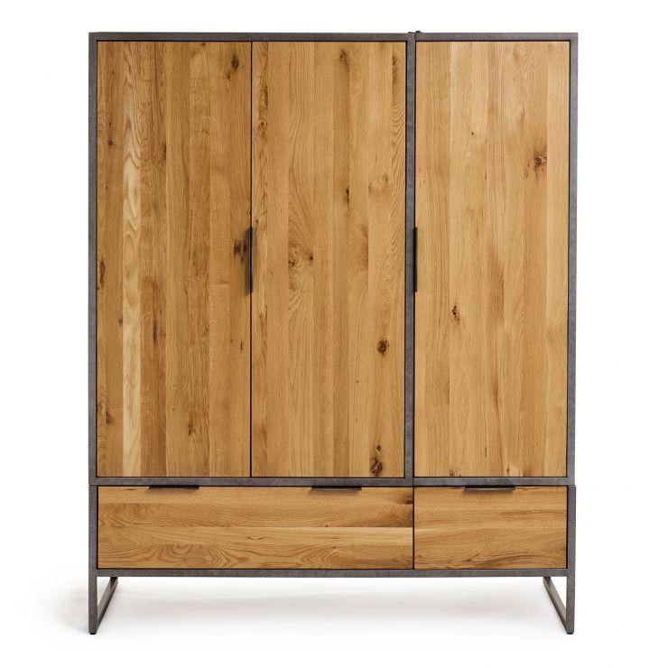 Brooklyn Metal Wardrobe | Industrial Wardrobe | Oak ...