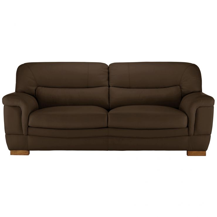 Miraculous Brandon 3 Seater Sofa Light Brown Leather Alphanode Cool Chair Designs And Ideas Alphanodeonline