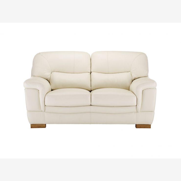 Tremendous Brandon 2 Seater Sofa Cream Leather Alphanode Cool Chair Designs And Ideas Alphanodeonline