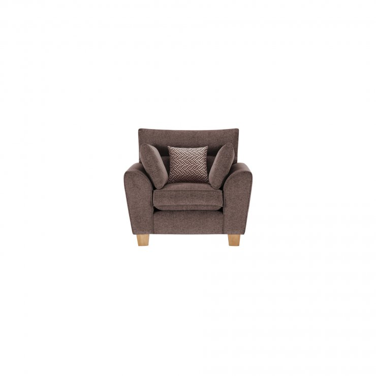 Brooke Armchair in Brown with Brown Scatters