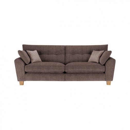 Brooke 4 Seater Sofa in Brown with Brown Scatters