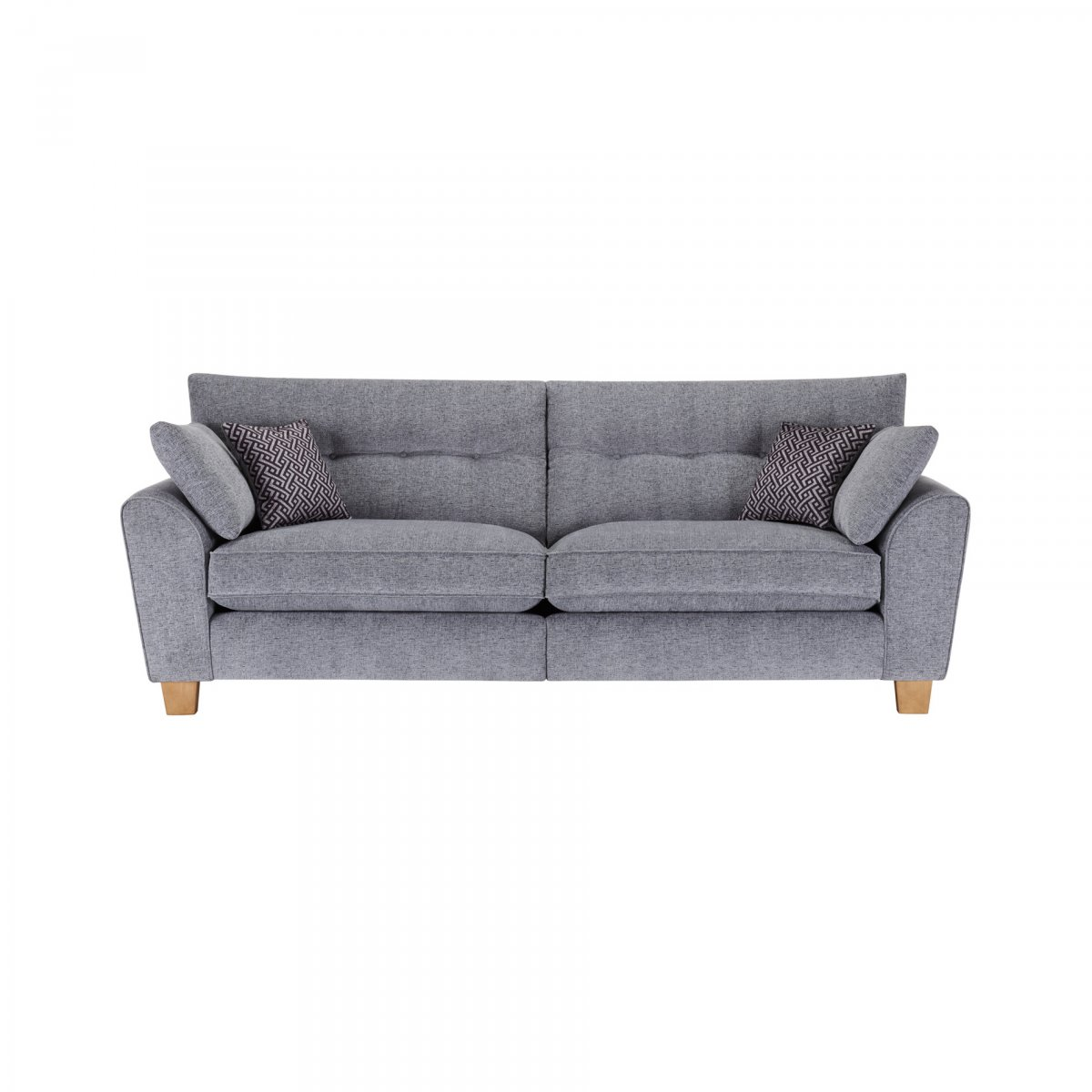 Brooke 4 Seater Sofa In Grey Grey Scatters