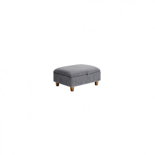 Brooke Plain Storage Footstool in Grey