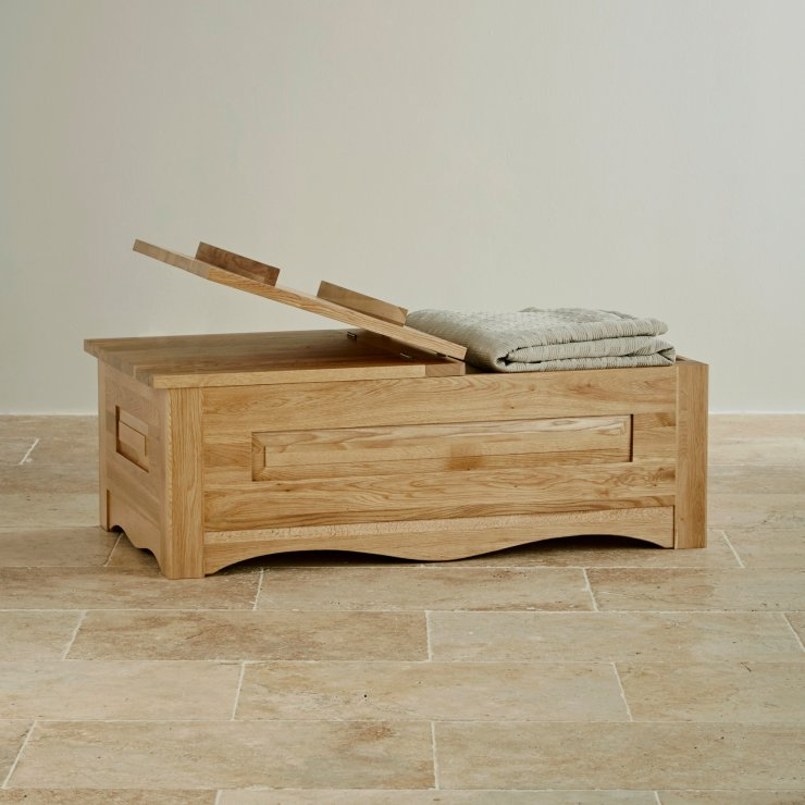 Cairo Natural Solid Oak Blanket Box