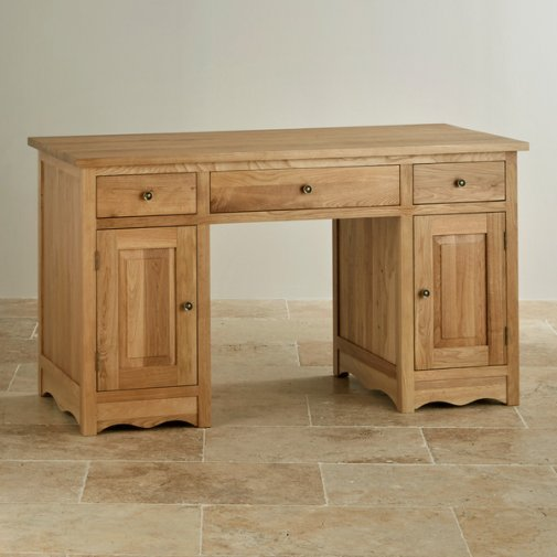 Cairo Natural Solid Oak Computer Desk