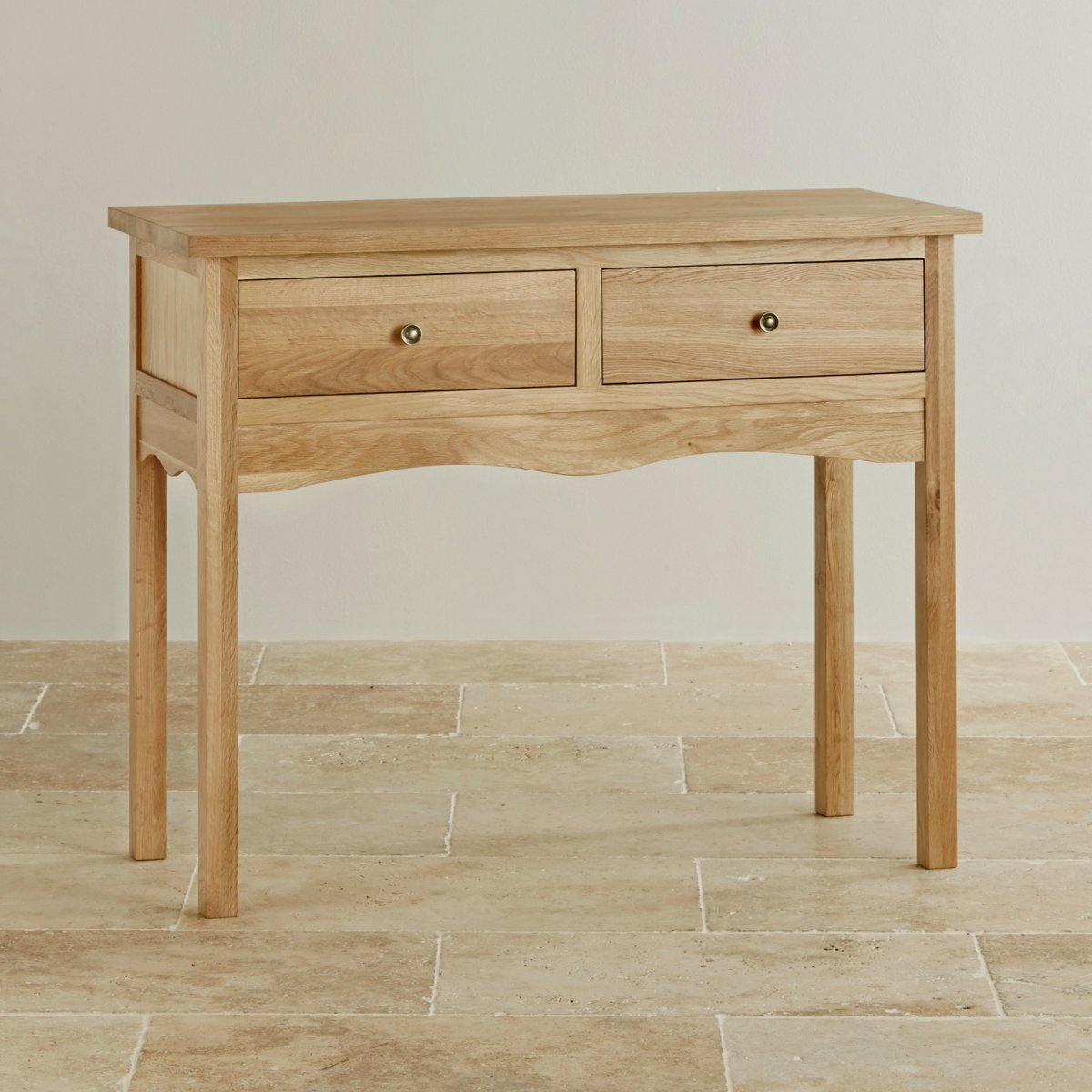 Cairo natural solid oak console table by furniture land