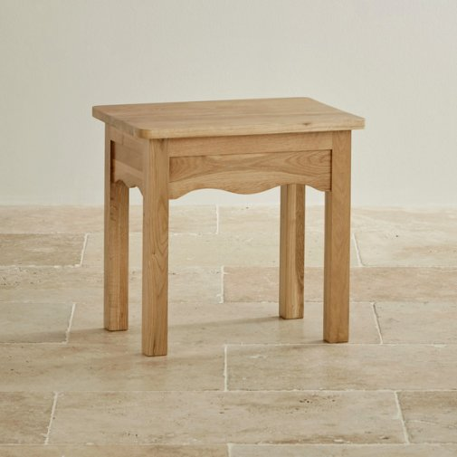 Cairo Natural Solid Oak Dressing Stool