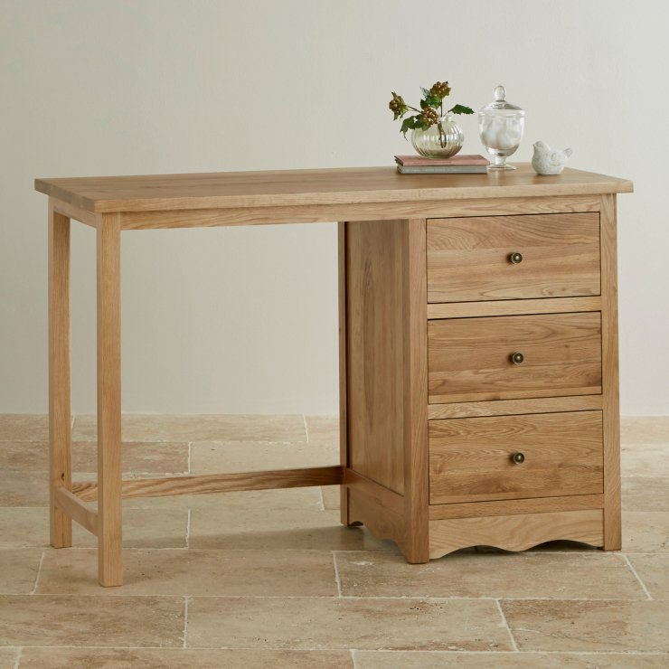 Cairo Natural Solid Oak Dressing Table