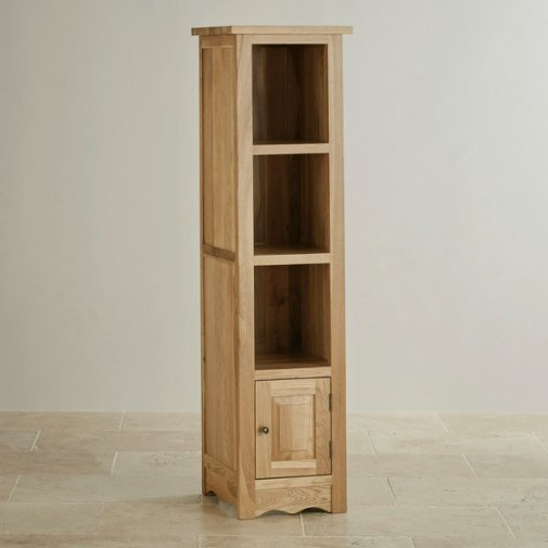 Cairo Natural Solid Oak Tall Slim Bookcase